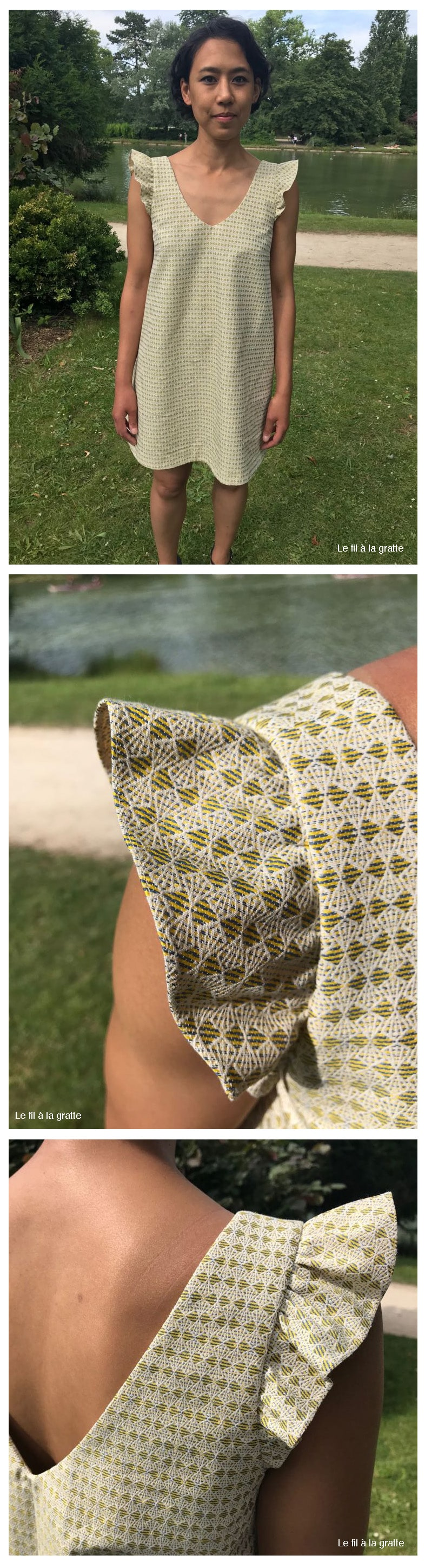 Cool Pharaon - Le fil a la gratte - Robe inspiration Laure de Sagazan - détail manche
