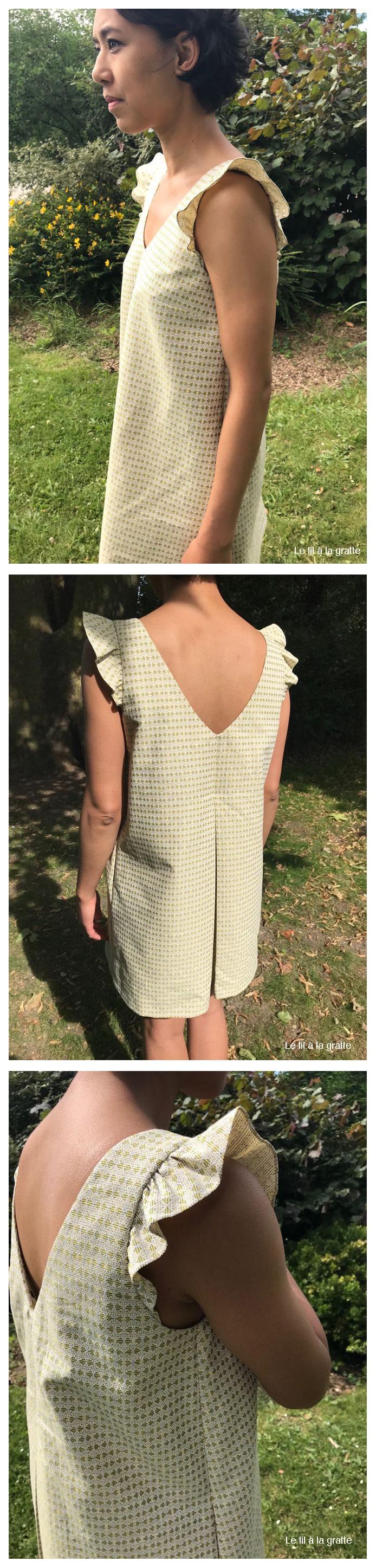 Cool Pharaon - Le fil a la gratte - Robe inspiration Laure de Sagazan - vue côté et dos