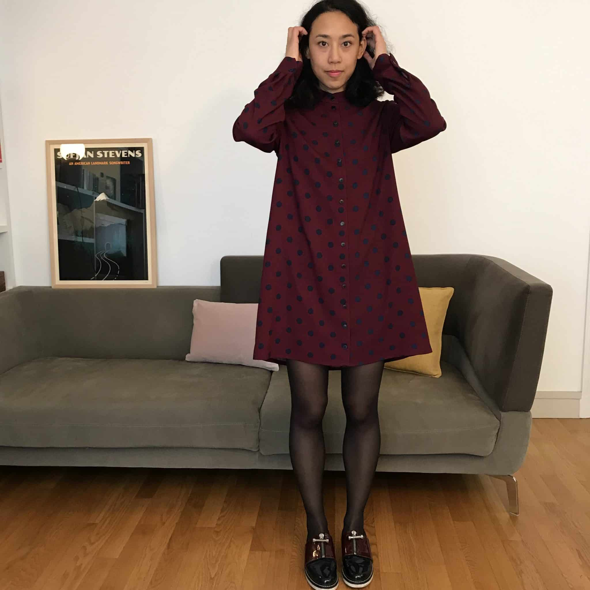Coudre une robe chemise : ma garde-robe d'automne (tenue #1)