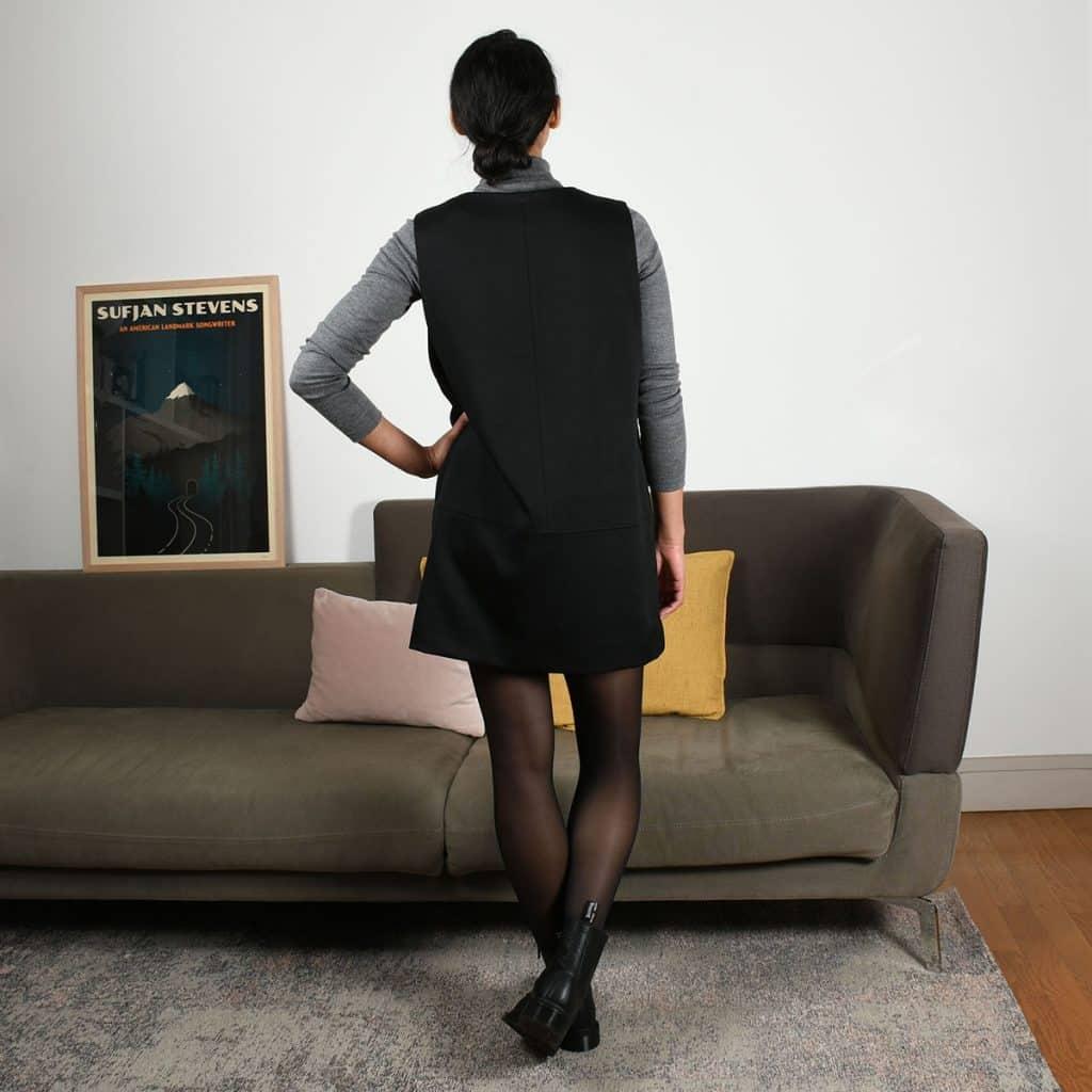 Le fil à la gratte - Robe chasuble - Vue de dos