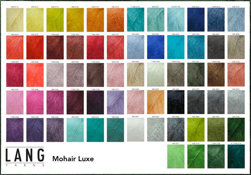 Cool Pharaon - Le fil à la gratte - Palette de couleurs Lang Yarns Mohair Luxe