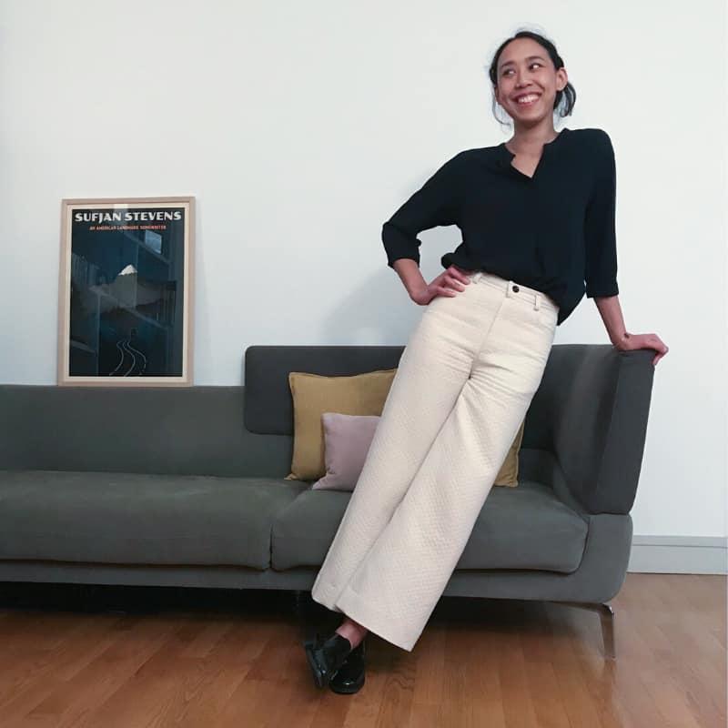 Coudre un pantalon blanc : ma garde-robe d'automne (tenue #2)