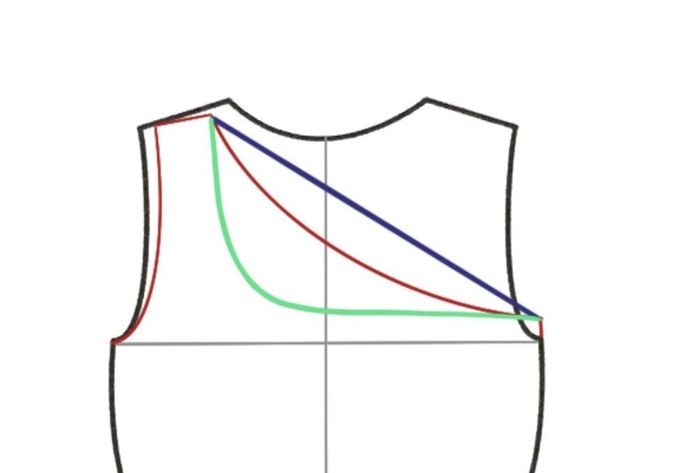 One-shoulder top - Haut asymétrique - Pattern hacking Cool Pharaon - Différents décolletés