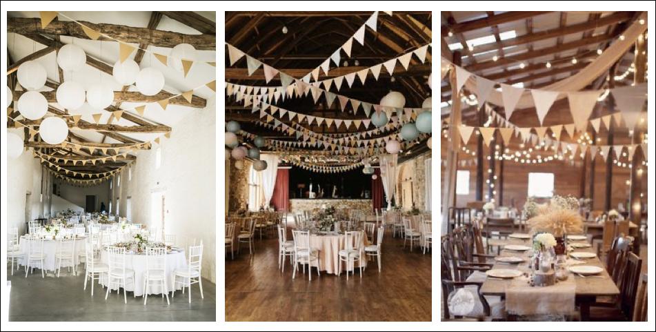 Idée de décoration de mariage - fanions Inspiration Pinterest   Blog Cool Pharaon - Le fil à la gratte
